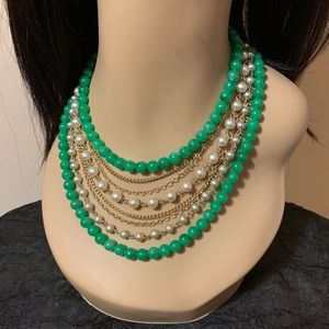 Vintage Eight Strand Faux Pearls, Beads Necklace